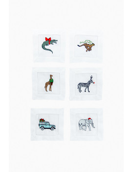 Party Animal Holiday Cocktail Napkins (Set Of 6) by Tuckernuck