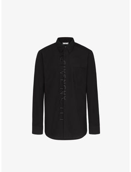Givenchy Split Embroidered Shirt In Coton by Givenchy