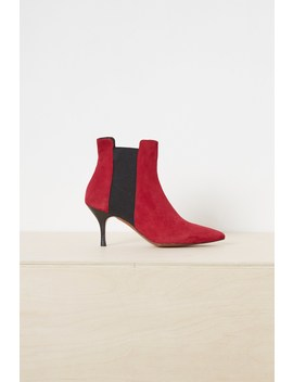 Jojo Suede Chelsea Pointy Boots by French Connection