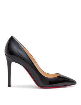 Pigalle 100 Black Patent Leather Pumps by Christian Louboutin