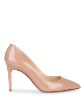 Pigalle 85 Nude Patent Pump by Christian Louboutin