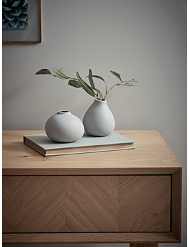 Two Bud Vases   Grey by Cox & Cox