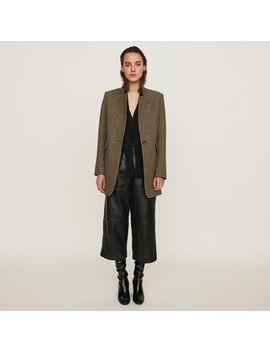 Plaid Coat by Maje
