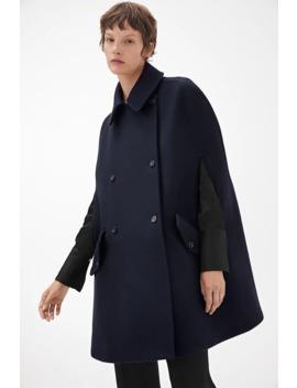 Heavy Wool Cape Coat by Arket
