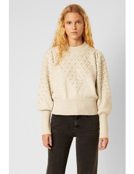 Cropped Bobble Knit Sweater by French Connection