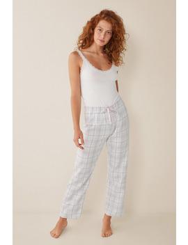 Long Checked Pyjama Bottoms by Women'secret