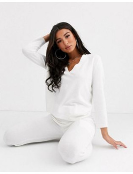 asos-design-lounge-premium-knitted-lash-plunge-sweater-&-jogger-with-pockets by asos