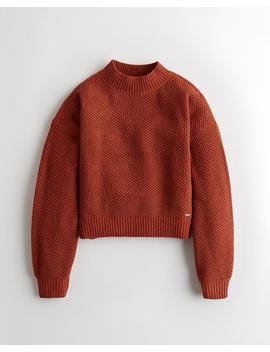 Chenille Pullover Mit Stehkragen by Hollister