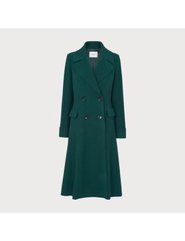 Marta Forest Green Wool Coat by L.K.Bennett
