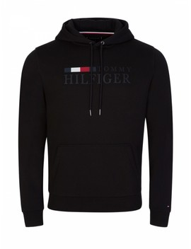 Tommy Hilfiger Black Fleece Logo Hoodie by Tommy Hilfiger