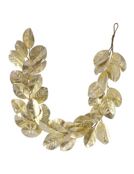 """Gold Magnolia Leaves Garland, 64""""Gold Magnolia Leaves Garland, 64"""" by At Home"""