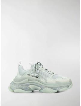 Triple S Low Top Sneakers by Balenciaga