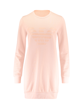 Tonal Chest Logo Sweater Dress by Emporio Armani