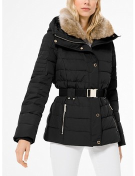 Quilted Down And Faux Fur Puffer Jacket by Michael Michael Kors