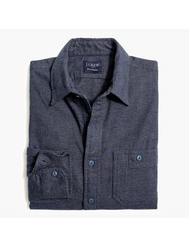 Houndstooth Slim Flannel Shirt by J.Crew