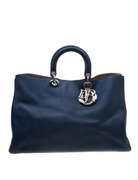 Dior Blue Leather Diorissimo Large Tote by The Luxury Closet