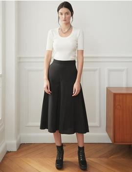 Black Flared Culottes by Pixie Market
