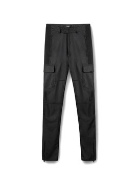 Leather Military Pant   Black by Represent