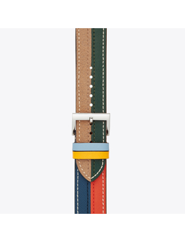 Mcgraw Band For Apple Watch®, Multicolor Leather, 38 Mm – 40 Mm by Tory Burch