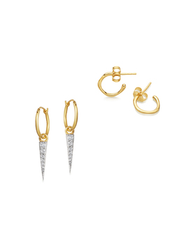 Gold Molten Spike Earring Set by Missoma