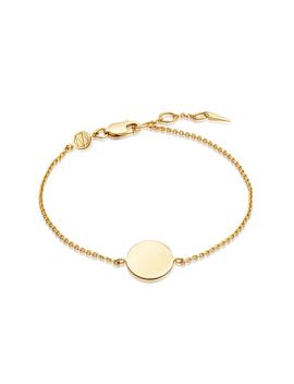 Gold Round Engravable Bracelet by Missoma