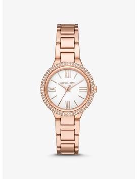 Taryn Pavé Rose Gold Tone Watch by Michael Kors