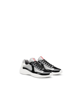 America's Cup Patent Leather And Nylon Sneakers by Prada