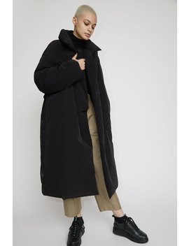 Amomento Duck Down Puffer Coat In Black by Amomento