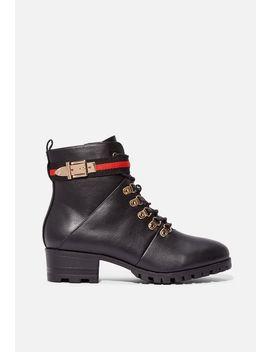 Alia Lace Up Boot by Justfab
