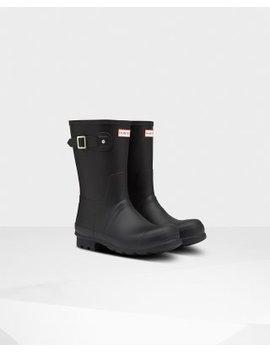 Men's Original Short Insulated Rain Boots: Black by Hunter