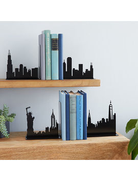 City Skyline Bookends by Uncommon Goods