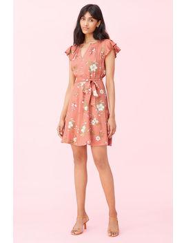 Lita Floral Silk Twill Dress by Rebecca Taylor