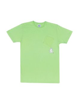 Hang In There Pocket Tee (Lime) by Ripndip