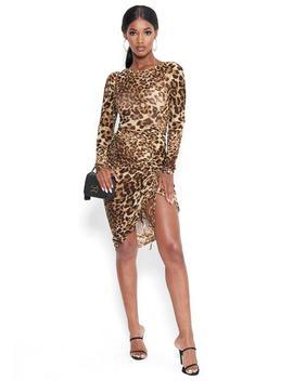 Leopard Mesh Midi Dress by Bebe