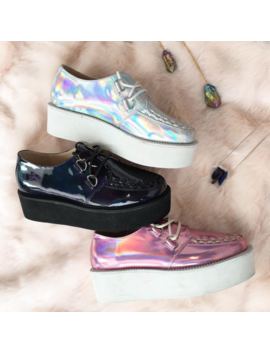 Black Friday Aesthetics Tumblr Holo Creepers by Kokopiecoco
