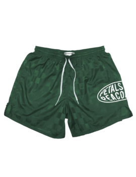 Petals Globos Shorts In Green by Petals And Peacocks