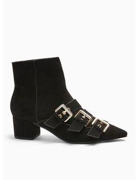 Bowy Black Multi Buckle Boots by Miss Selfridge