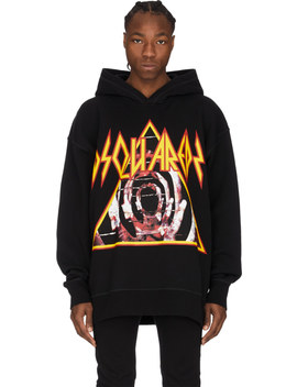 Rock Logo Hoodie   Black by Dsquared2