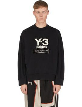 Stacked Logo Crew Neck Pullover   Black by Y 3