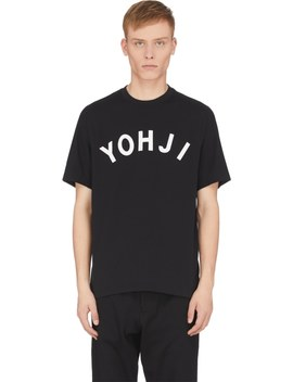 Yohji Letters T Shirt   Black by Y 3