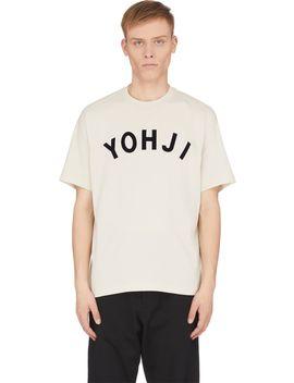 Yohji Letters T Shirt   Ecru by Y 3