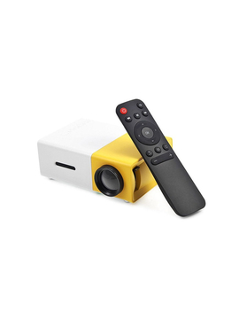 600 Lumens Mini Led Home Theatre Projector Full Hd 1920x1080 Portable Yellow by Catch