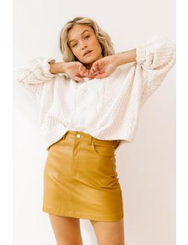 Cool & Calm Ivory Sweater by Luca And Grae