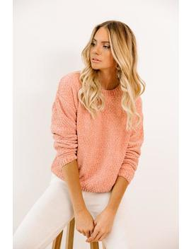 Wonderland Avenue Peach Sweater by Luca And Grae
