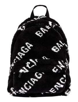 Balenciaga          Black And White Backpack by Balenciaga