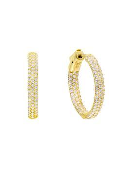 Pavé Hoop Earring by Adina's Jewels