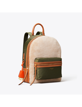 Perry Shearling Backpack by Tory Burch