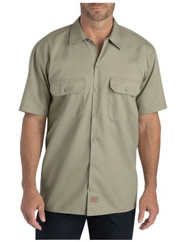 Flex Relaxed Fit Short Sleeve Twill Work Shirt by Dickies