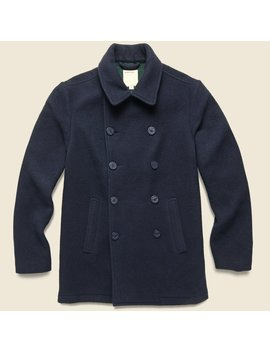 Glastonbury Japanese Wool Coat   Royal Navy by Life After Denim