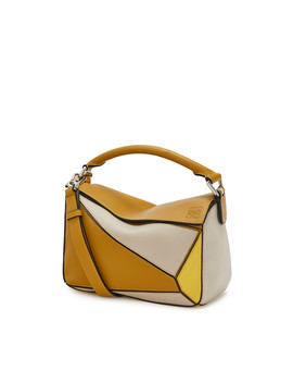 Puzzle Small Bag       Ochre/Yellow by Loewe